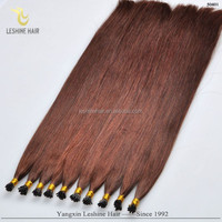 Popular Product Double Drawn Thick Bottom Italy Keratin No Tangle No Shedding tip + indian virgin