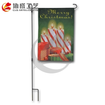 Promotional Custom Printing Good Quality Halloween Garden Flags