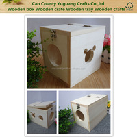 Solid wooden cat house,small wooden dog cage,wooden pet box