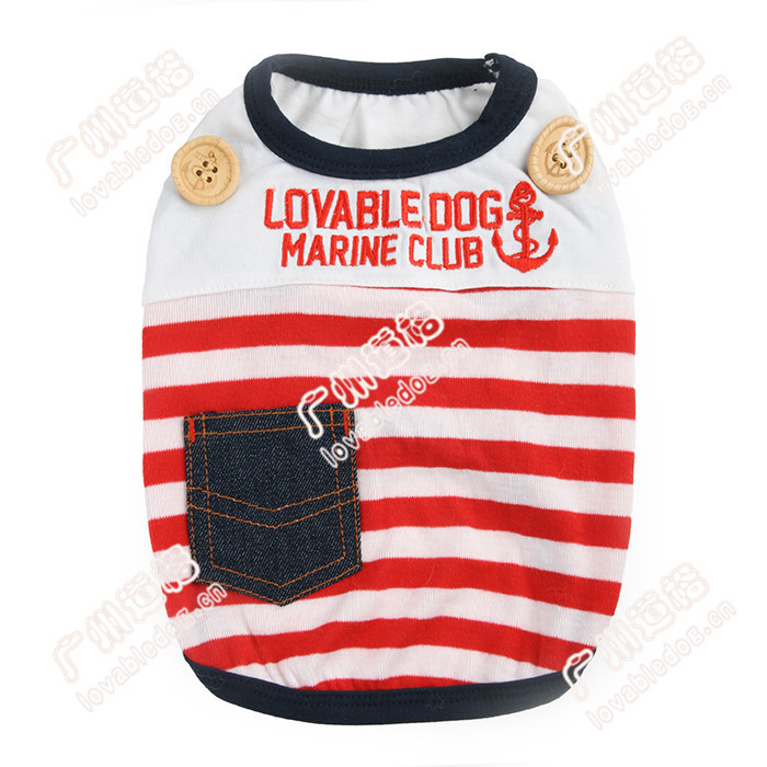 new arrival pet clothes dog apparel Sailor T-shirt hot sell pet accessories