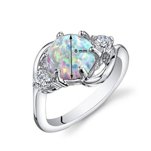 Fashion 925 sterling silver opal ring