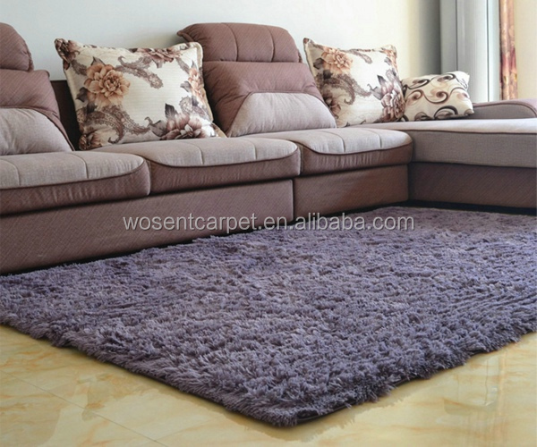 Hot selling plush fleece purple grey tapetes carpet bathroom shaggy