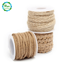 New Decorative Product 3 Strand Thick Twine Fiber 100% Natural Hemp Jute Rope