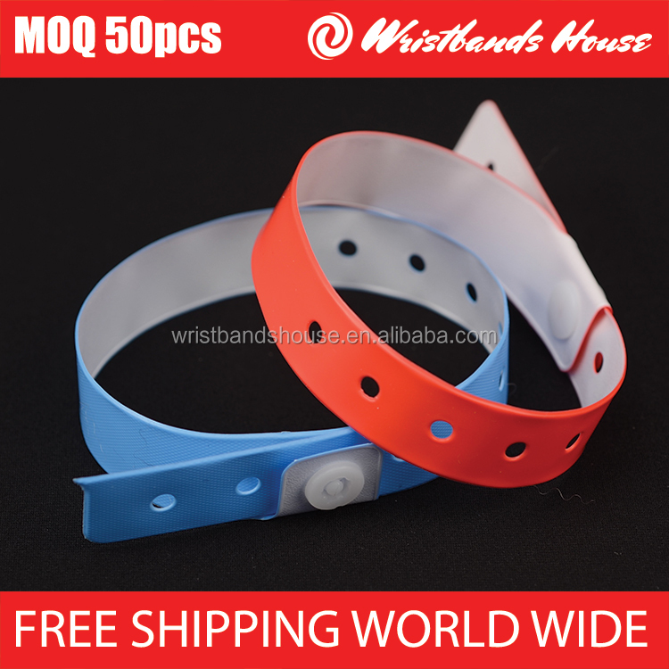 Vinyl wristbands | L-Shapre | Big Face wristbands | 5-TAB vinyl Wristbands