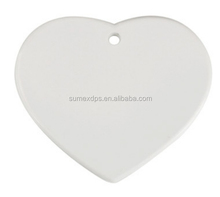 Personalized Logo Sublimation Heart Shape Ceramic Tile for Printing Photos