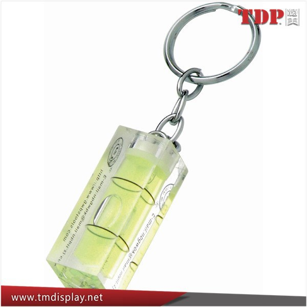 Spirit Level Keyring/Clear Plastic Acrylic Keychains Keyring for Gifts