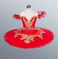 MBL1047A NEW !!! Red girl puffy customized ballet pancake ballet costume tutu dress