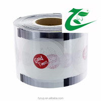 Well-Stocked customized Logo cup sealing film, Heat resistan printed plastic film
