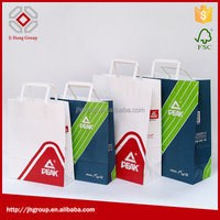 Flat-handle paper bag, kraft paper bag,craft paper bag