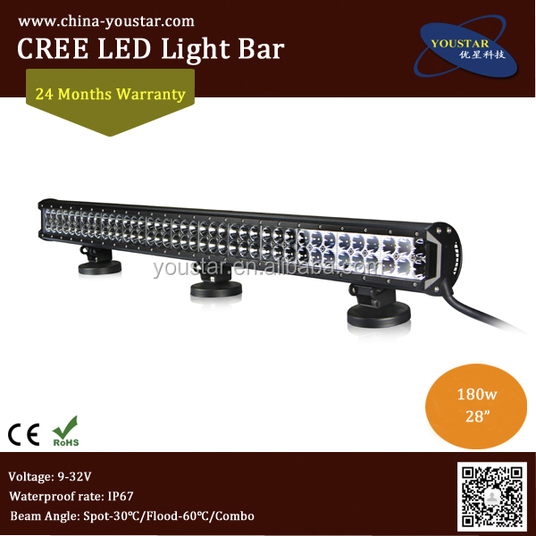 "Wholesale Price 28"" <strong>cree</strong> 180w Led Work Light Bar,Double Row Light Bar IP67 Led Work Lights For Atv Suv Trucks Offroad"