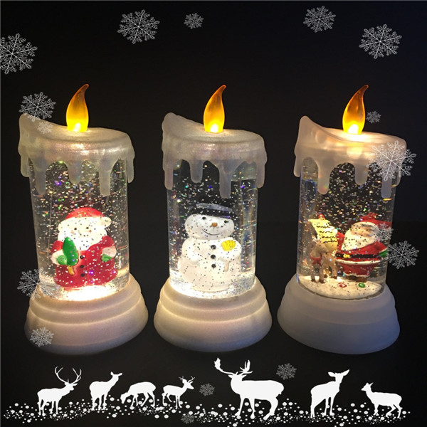 battery operated electric round shape flickering led acrylic christmas - Christmas Decorations Battery Operated Candles