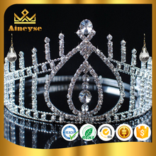 hot selling cheap tall pageant crown tiara with new style