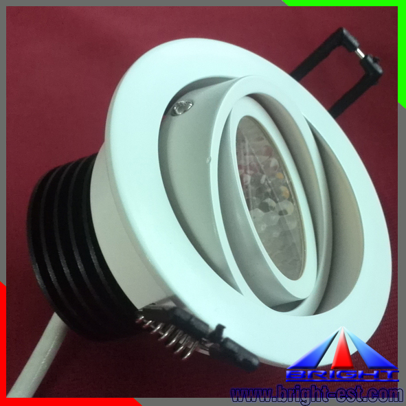 360 degree adjustable COB downlight 7W led dimmable lights