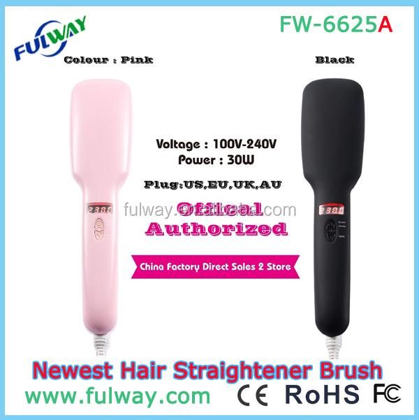 Personal Care Professional Women Fast Hair Straightener Iron Brush