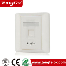 New material rj45 faceplate dust cover wall outlet network information outlet