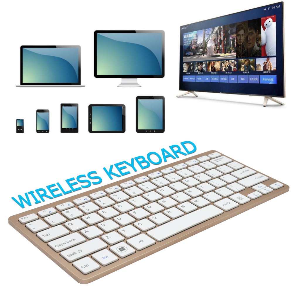 Ultra Slim mini bluetooth keyboard android tv box Wireless Keyboard