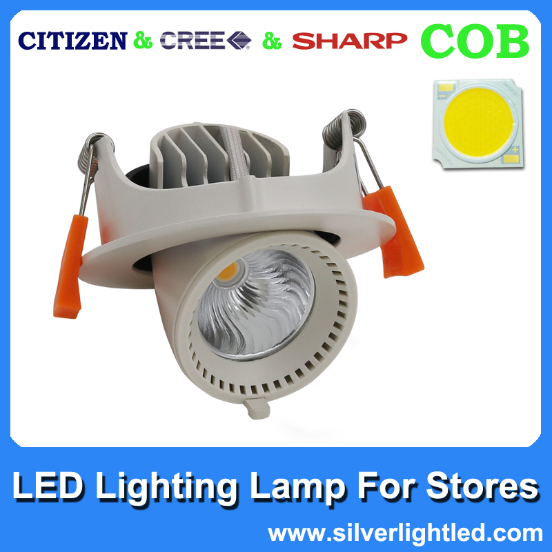 360 rotational led dimmable surface150mm led down light for 18w COB
