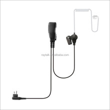 Ear-Hook 2 wire Acoustic tube earpiece Noise isolating For two way radios CP200 CP160 CP040 earpiece Noise isolating Earbud