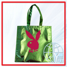 Factory Supply Unique Design Twisted Woven Handle Green Carry Out Bag