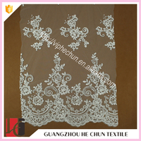 HC-9246-1 Hechun factory guipure african lace embroidery fabric for wedding dress