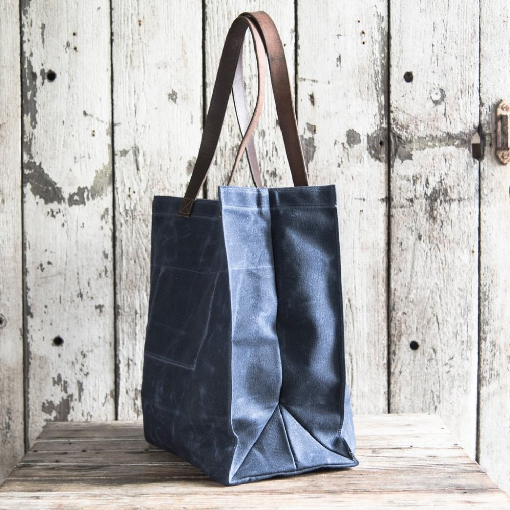 Ladies Waxed canvas shopping bag canvas tote bag