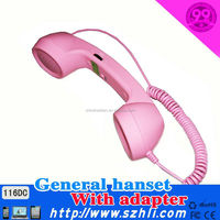 Exquisite quality Retro Coco mobile phone handset for most smart phone with 3.5mm DC plug on China Factory sale 116DC