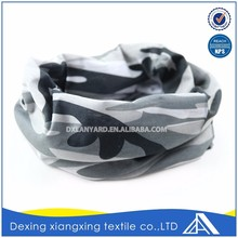 Popular headwear 100% microfibre polyester high stretchy cooling leopard multifunctional custom tube bandana