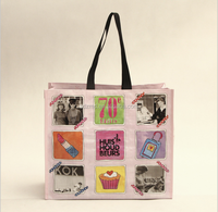 China Manufacturer Custom OEM pp shopping bag with zipper