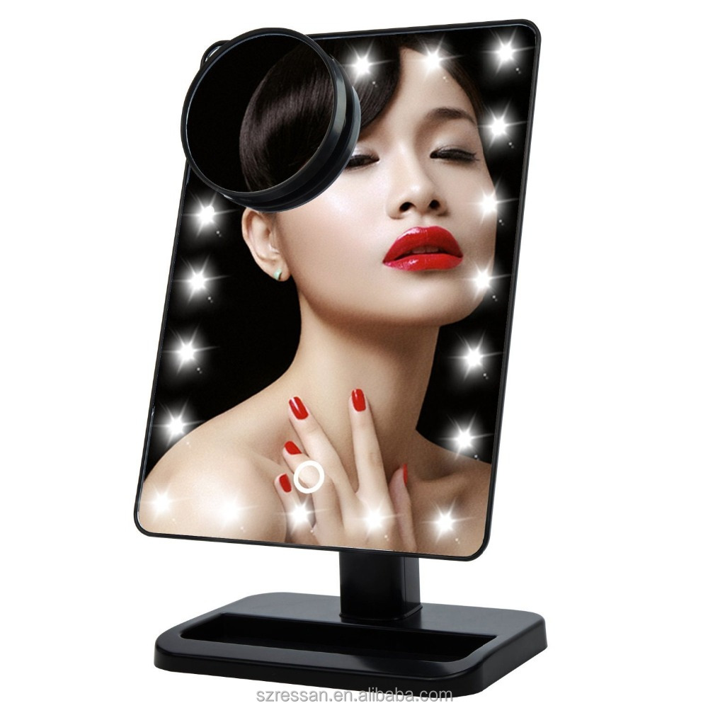 Vanity Mirror Chrome Tabletop Two-Sided with 10x Magnification,makeup mirror