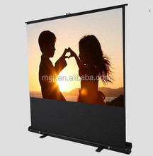 "80"" 16/9 Outdoor Portable Floor Projection Screen/Roll up Aluminum floor screen"