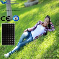 High performance A grade cell with top quality mono solar panel black 250w