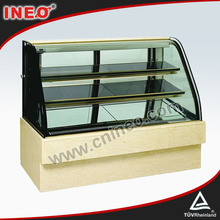 Refrigerated Kitchen Bread Cake Glass Display Cabinet