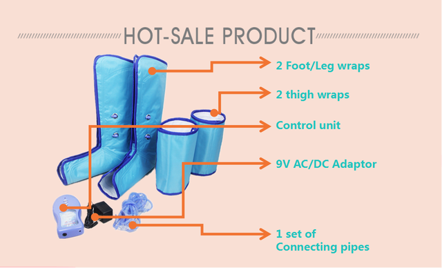 health-improving circulation air leg massager air pressure therapy