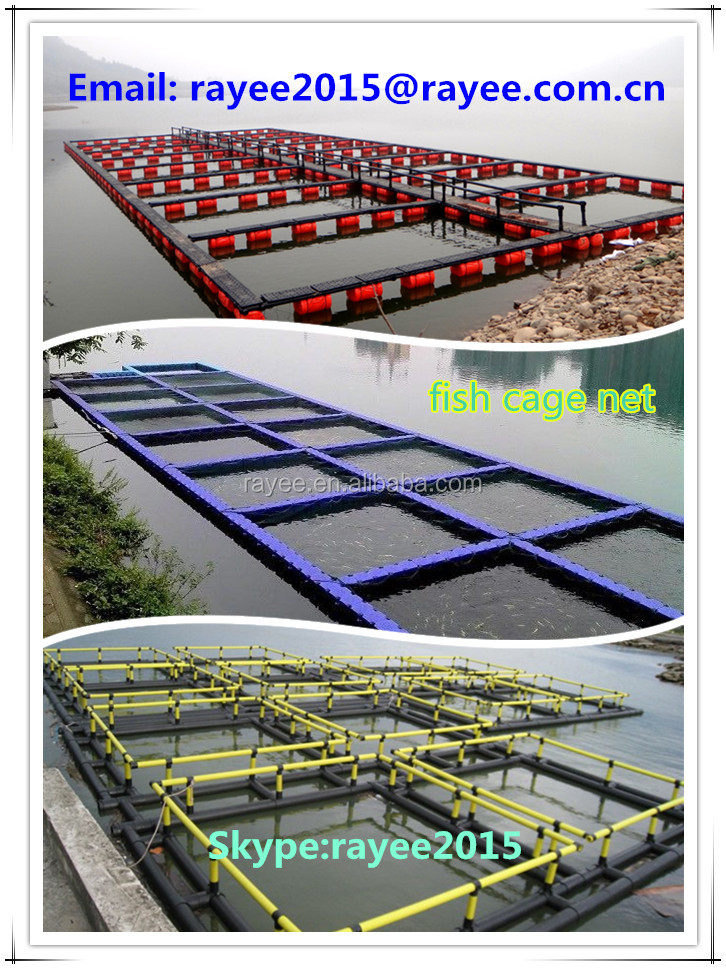 Fish Farming Cage Net for Fish Breeding , hdpe aquaculture fish cage floating, peces neto jaula