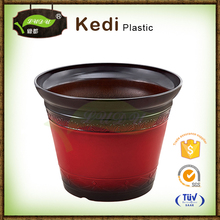 Save 10% free sample premium cheap colorful PP plastic handwork painting glass flower pot