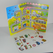 Transport Magnetic Game book, great for traveling Kids