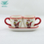 Factory direct color glazed christmas gift ceramic coffee cup