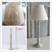 Limewash Finish Wooden Lamp Base Home Goods Table Lamps