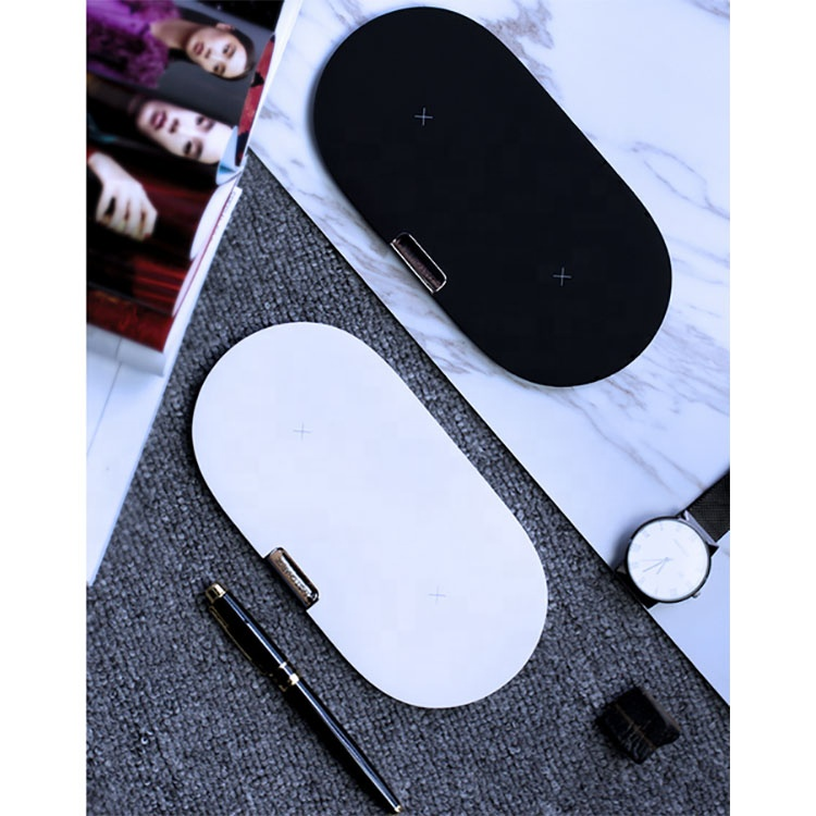 2 in 1 double Qi wireless charger fast wireless charging pad mobile phone charger watch wireless charging seat 10W