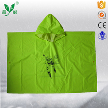 china rain coat factory kids racing rain poncho kids safety clothing