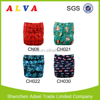 Alvababy New Design Double Colorful Snaps Baby Cloth Diaper Wholesale Baby Nappy