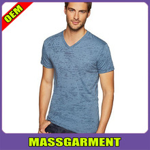 Men's Burnout V Neck T Shirts Wholesale - made from preshrunk 65% polyester and 35% cotton