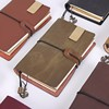 High quality handmade genuine leather notebooks cover soft cover PU leather notebook