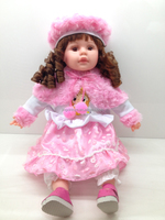 18 inch real baby doll with hair fashion doll,singing toy 8 colors mix