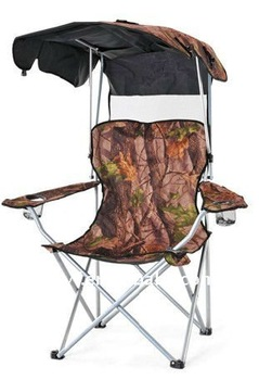 Camouflage Folding chair with sunshade