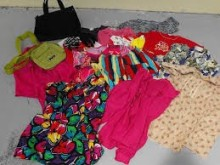 Sorted used cloth korean style women clothing, second hand cream clothes