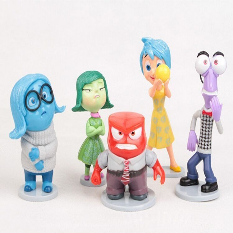 custom made action figure, famous cartoon character figurines, inside out miniature toy plastic figurines