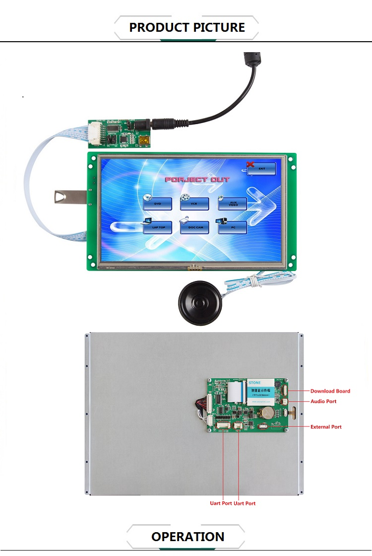 Outdoor Advertising Lcd Display 15.1 Inch Touch Screen Panel