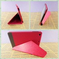 Tablet+cover+for+ipad+air+2+leather+case triangle flip stand cover for ipad air covers for ipad mini wholesale