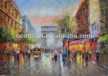 Prosperous Scene Paris Streetscape Oil Painting